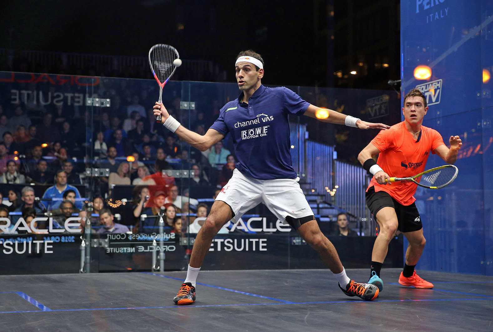 Defending Champions ElShorbagy and Perry Reach Semifinals; Au Stuns Serme