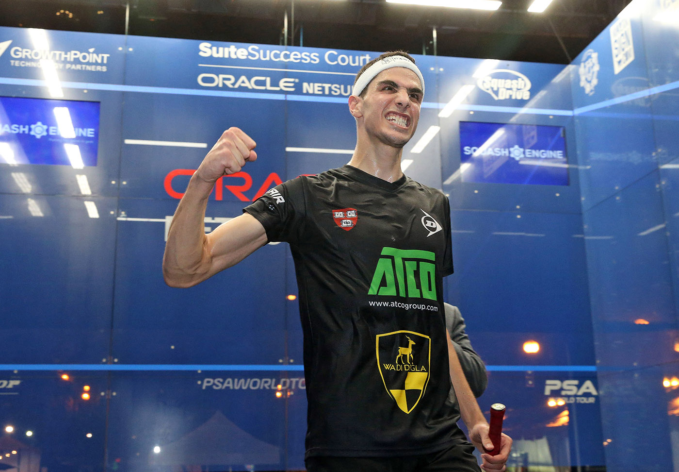 Farag Tops Gaultier in Five-Game Thriller; ElShorbagy and Perry to Defend Oracle NetSuite Open Titles in Finals