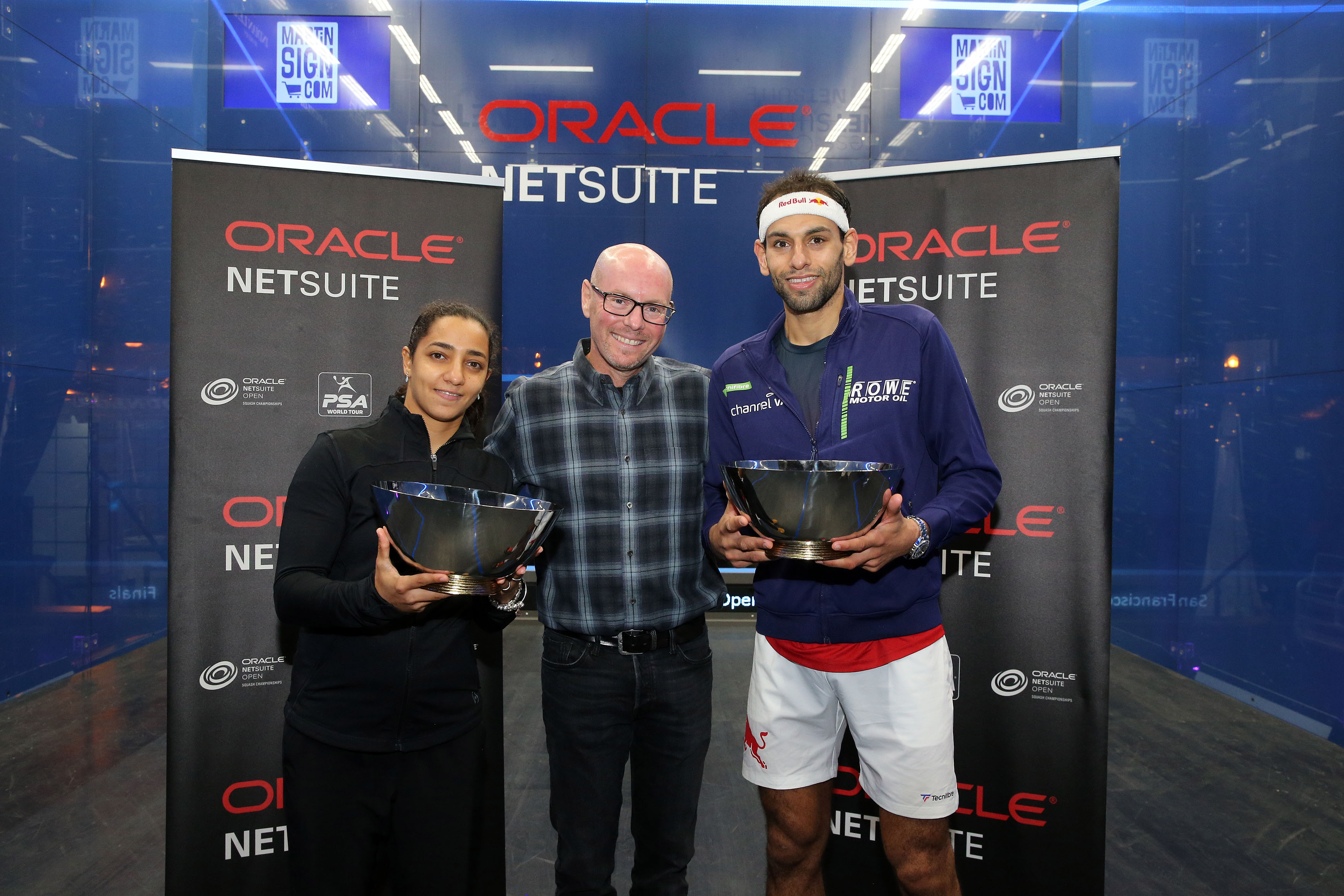 Top Seeds El Welily and ElShorbagy Claim 2019 Oracle NetSuite Open Titles